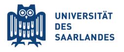 Logo - Universität des Saarlandes